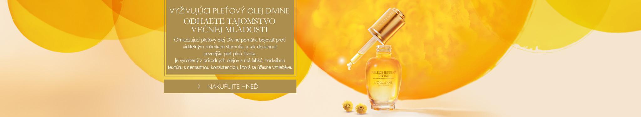 Vyživujúci pleťový olej Divine