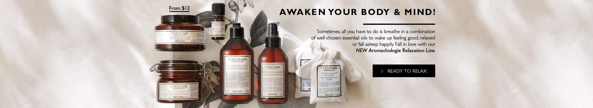 Awaken your Body & Mind ! Sometimes, all you have to do is breathe in a combination of well-chosen essential oils to wake up feeling good, relaxed or fall asleep happily.Fall in love with our NEW Aromachologie Relaxation Line.