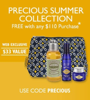 Free with any $110 Purchase*.web exclusive. $33 value. Use code Precious