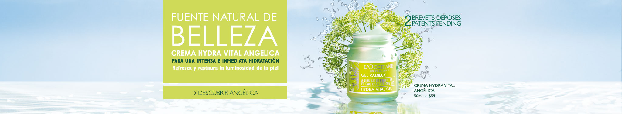 Crema Hydra Vital Angélica, para una intensa e inmediata hidratación