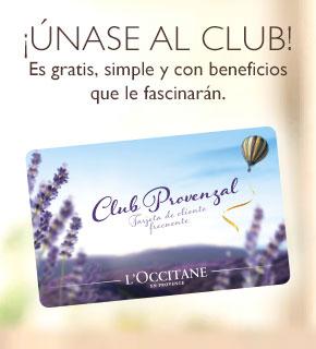 Únase al Club Provenzal de L'OCCITANE para acceder a descuentos y promociones