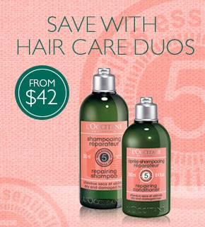 save with hair care duos- from $42