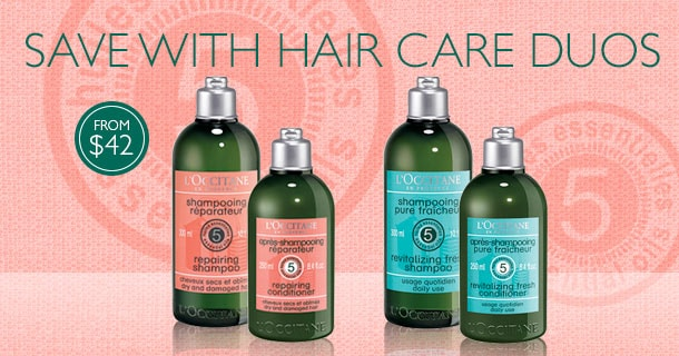 save with hair care duos from $42