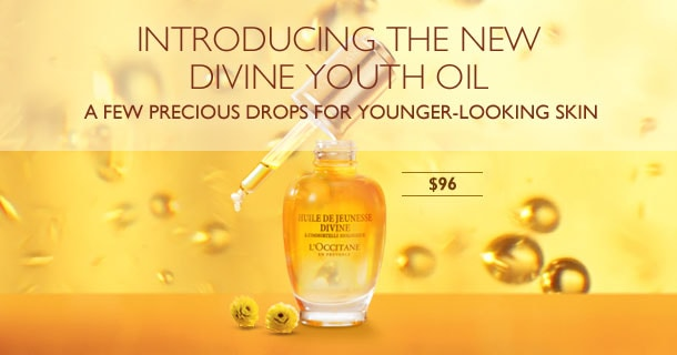 Introducing the new divine Youth oil - a few precious drops for younger looking skin