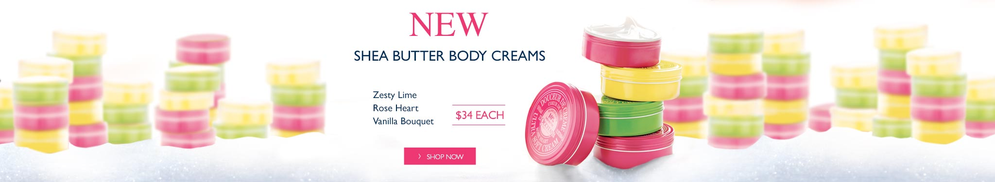 New Shea body creams