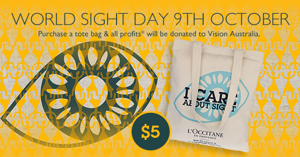 world sight day 9th October - tote bag for $5