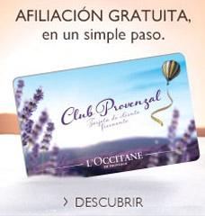 La tarjeta Club Provenzal de L'OCCITANE Perú, le brinda beneficios exclusivos, para que disfrute de los diferentes productos de la Provenza