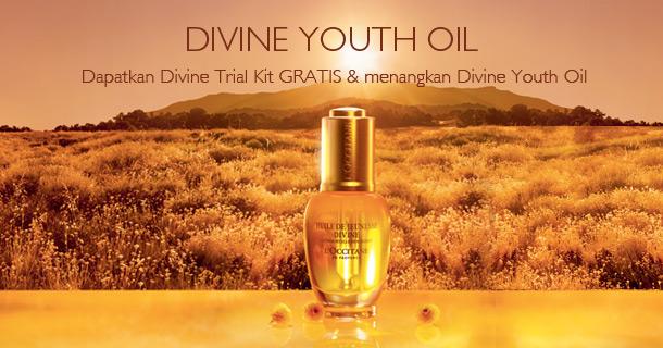Dapatkan Divine Trial Kit gratis dan menangkan Divine Youth Oil