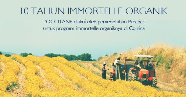 10 Tahun Immortelle Organik. L'OCCITANE diakui oleh Pemerintahan Perancis untuk program immortelle organiknya di Corsica.