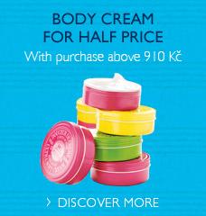 Body cream for half price