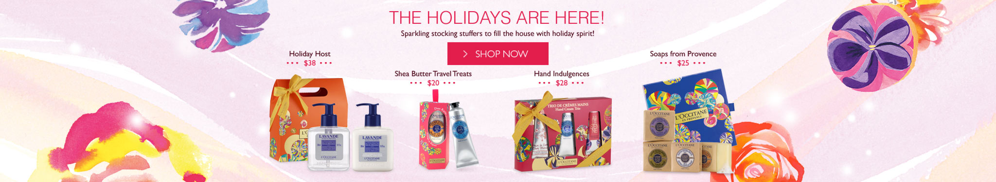 The Holidays are here. Sparkling stocking stuffers to fill the house with holiday spirit