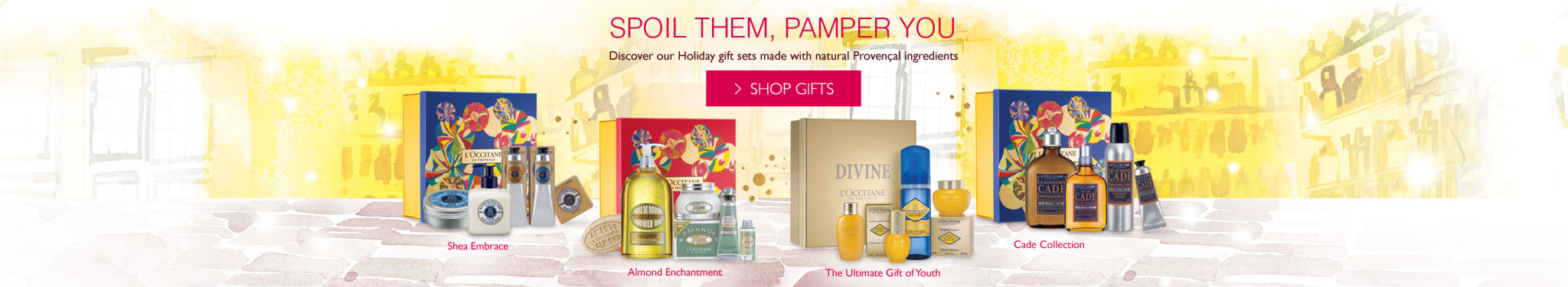 Spoil them, pamper you discover our holiday gift sets made with natural provencal ingredients