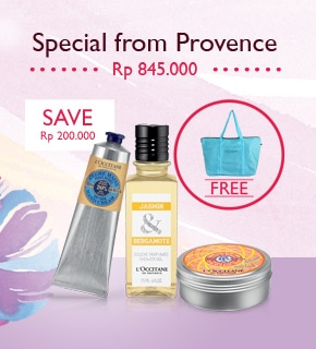 Special from Provence. Save Rp 200.000 and get an extra gift