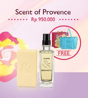 Scent of Provence Rp 950.000. And get a FREE gift.