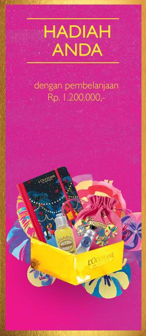 Hadiah Anda dengan pembelanjaan Rp 1.200.000