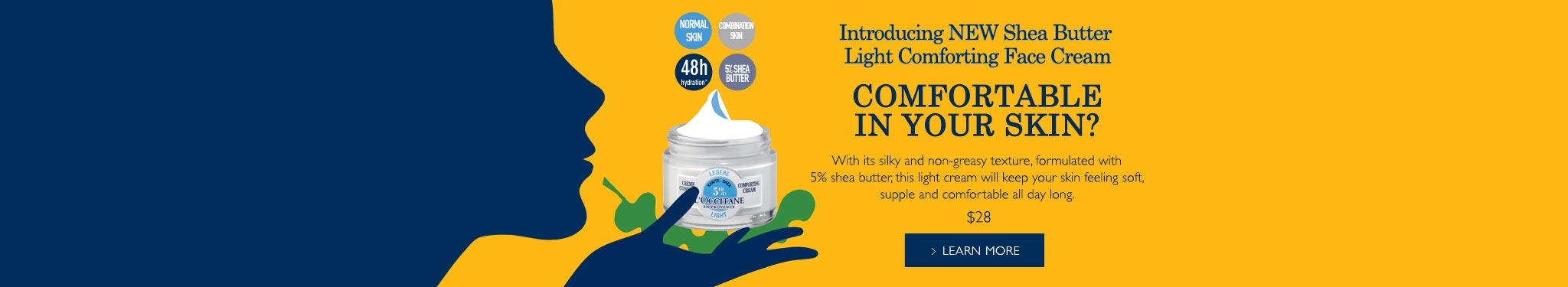 Introducing the New Shea Butter Light Comforting Face Cream