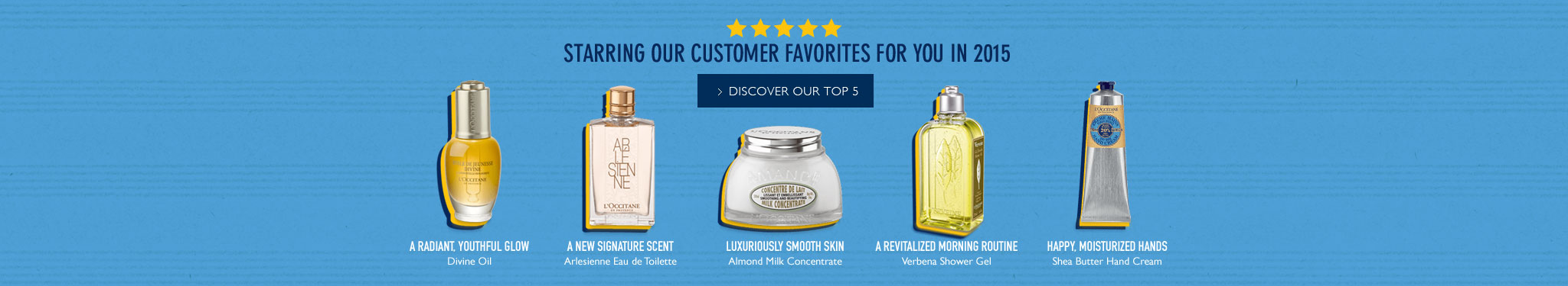 Starring our customer favorites for you in 2015