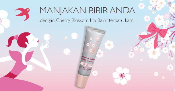 MANJAKAN BIBIR ANDA dengan Cherry Blossom Lip Balm terbaru kami