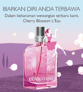 Biarkan Diri Anda Terbawa dalam keharuman wewangian terbaru kami, Cherry Blossom L'Eau