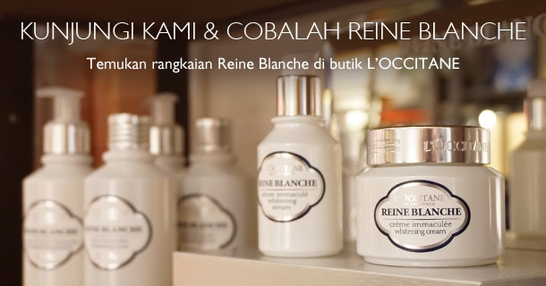 Kunjungi Kami & Cobalah Reine Blanche di butik L'OCCITANE