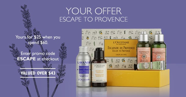 escape to provence- yours for $25 when you spend $60