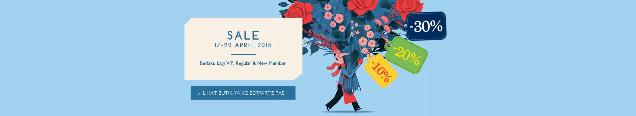 SALE! 17-20 April 2015