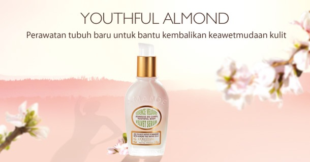Youthful Almond. Perawatan tubuh baru untuk bantu kembalikan keawetmudaan kulit