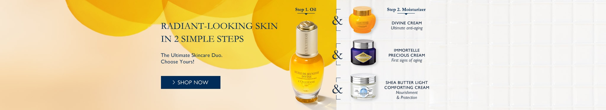 Radiant Looking Skin in 2 simple steps