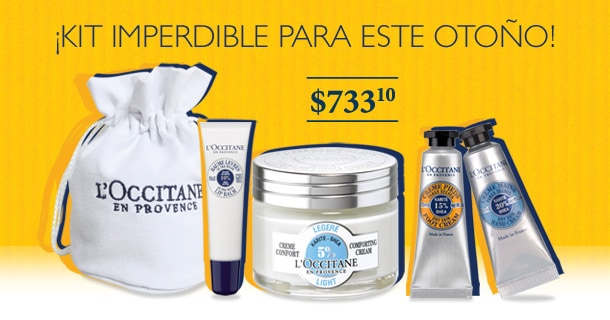 Ideal para Otoño, kit esencial de L'Occitane $733.10