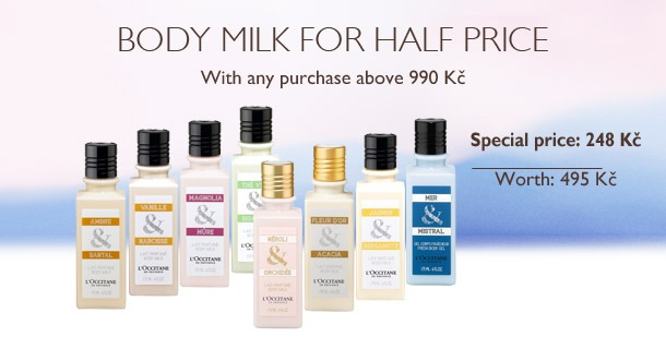 Body milk for half price