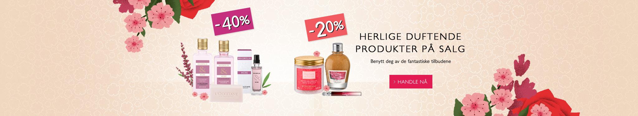 Herlige duftende produkter på salg