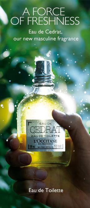 Eau de Cedrat, Our new masculine fragrance.