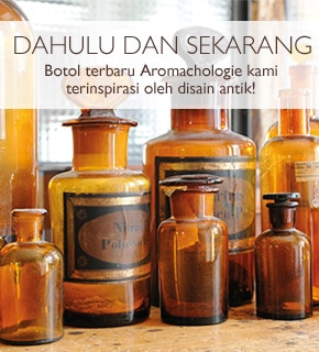 Botol terbaru Aromachologie kami terinspirasi oleh disain antik!