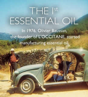 The first essential oil. In 1976, Olivier Baussan, the founder of L'OCCITANE, started manufacturing essential oil.