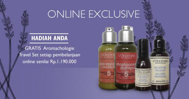 Gratis Aromachologie Travel Set setiap pembelanjaan online senilai Rp 1.190.000