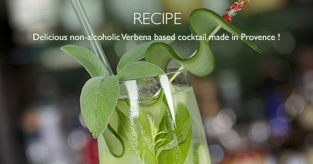Delicious non-alcoholic Verbena-based cocktail made in Provence