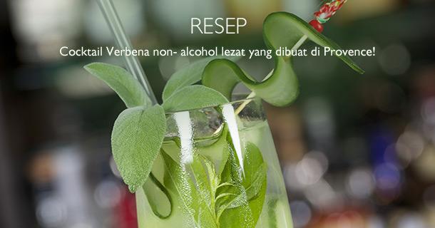 Cocktail Verbena non-alkohol, Minuman Segar Musim Panas