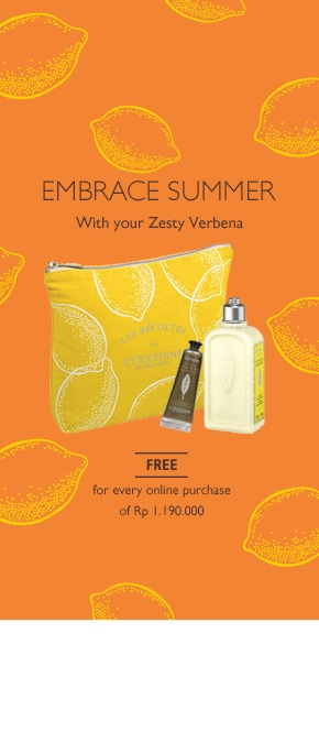 Get Verbena Zesty Pouch for every purchase of Rp 1.190.000