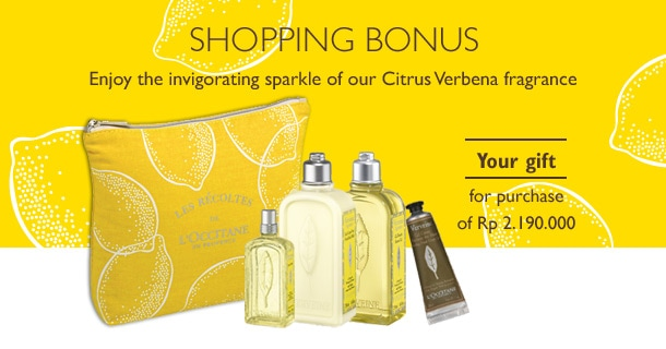 Free Citrus Verbena Set for every purchase of Rp 2.190.000