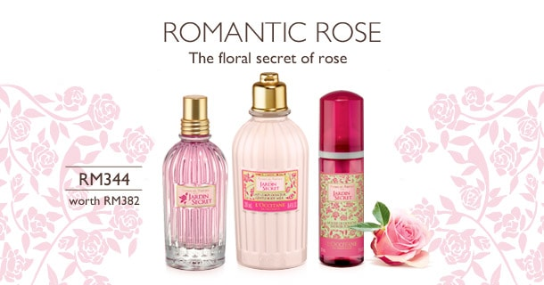 Shop our Romantic Rose set RM344
