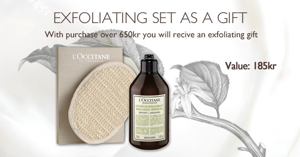exfoliating set as a gift