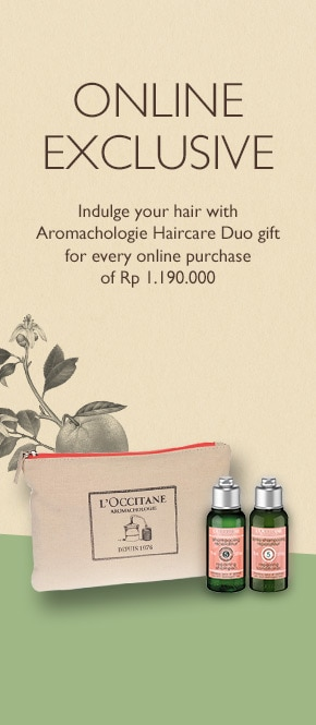 Get Aromachologie Haircare Duo for every purchase of Rp 1.190.000