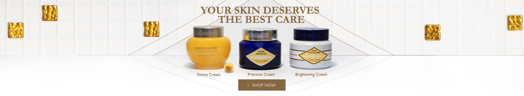 Discover our Immortelle skincare range