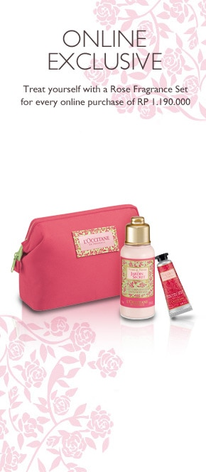 Get Rose Fragrance Set for every purchase of Rp 1.190.000