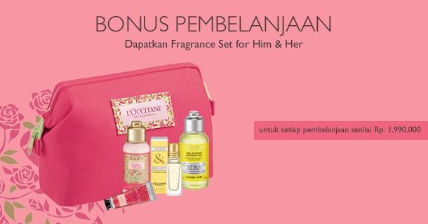Dapatkan Fragrance Set for Him & Her untuk setiap pembelanjaan senilai Rp 1.990.000