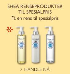 Shea renseprodukter til spesialpris
