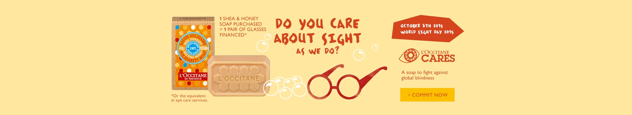 L'OCCITANE CARES ABOUT SIGHT