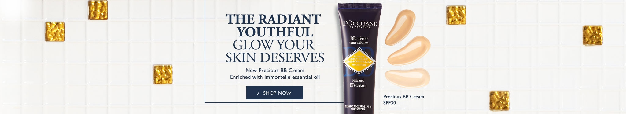 The Radiant Youthful Glow Your Skin Deserves. New Precious BB Cream Enriched with Immortelle Essential Oil