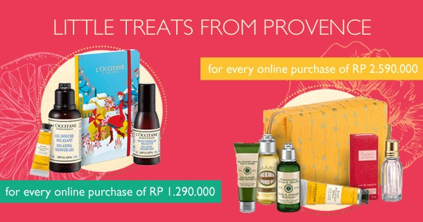 Free Petite Holiday Set for every purchase of Rp 1.290.000 or Hair & Body Care Set for every purchase of Rp 2.590.000