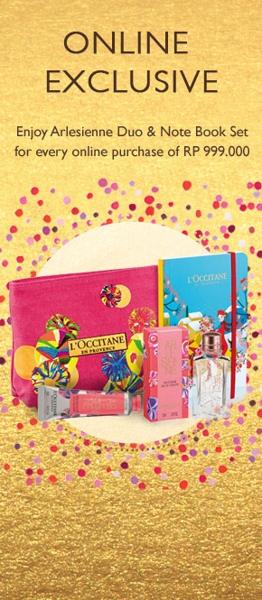 Get Arlesienne Duo & Note Book Set for every purchase of Rp 999.000